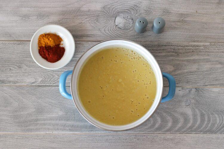 Pikantny imbirowy krem z kukurydzy - Krok 4