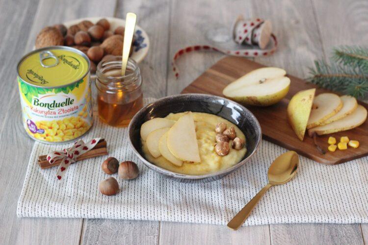 Pudding z kukurydzy z cynamonem