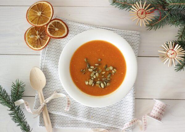Krem dyniowo-marchewkowy z pomarańczową nutą