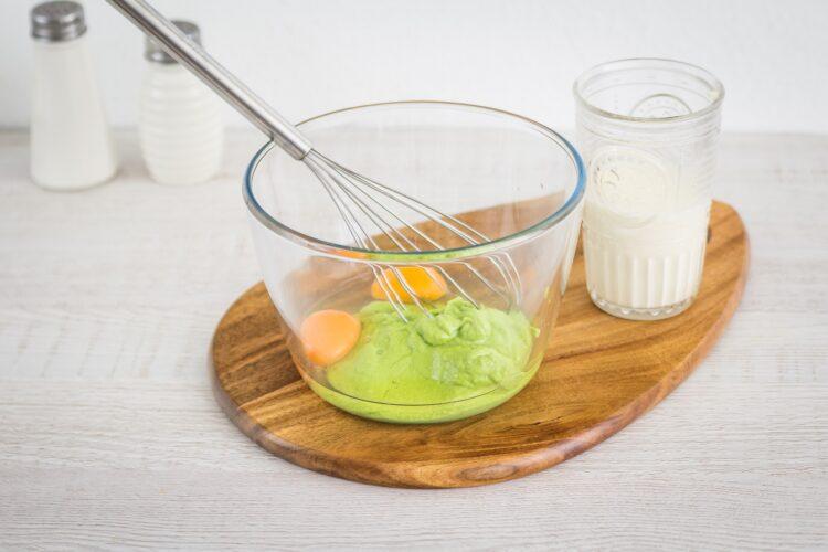 Flan z zielonego groszku z grzybami - Krok 3