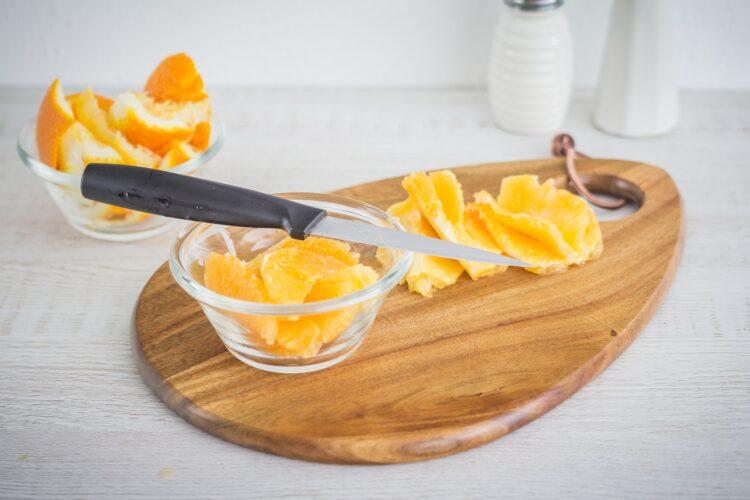 Pierś kaczki na purée z dyni z pomarańczami - Krok 4