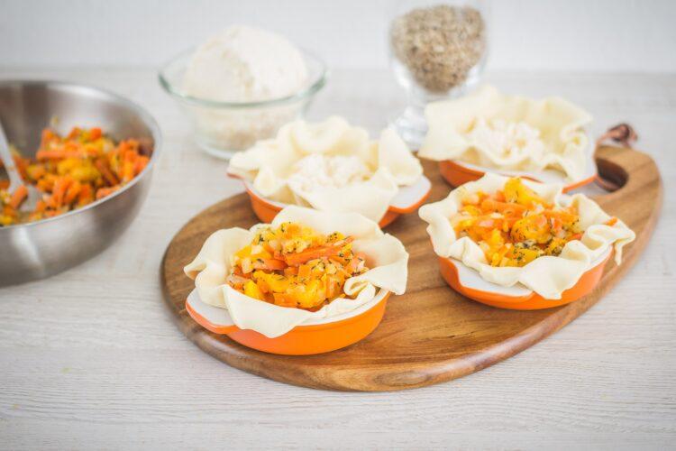 Tartaletki z dynią, ricottą i pestkami słonecznika - Krok 4