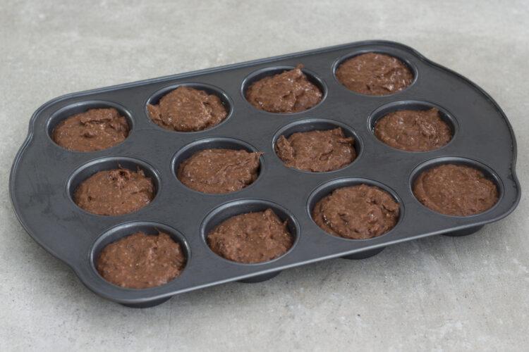 Czekoladowe muffiny z czerwonej fasoli - Krok 4