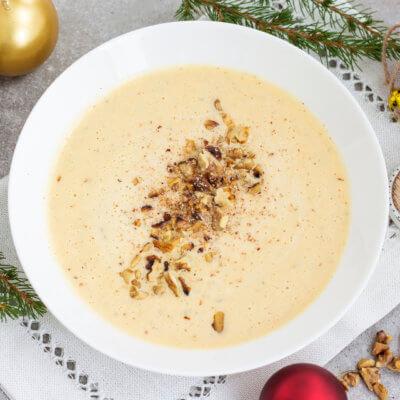 Kalafiorowa zupa krem z pieczonym czosnkiem