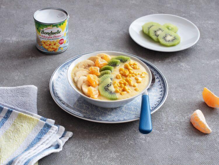 Kukurydziany smoothie bowl