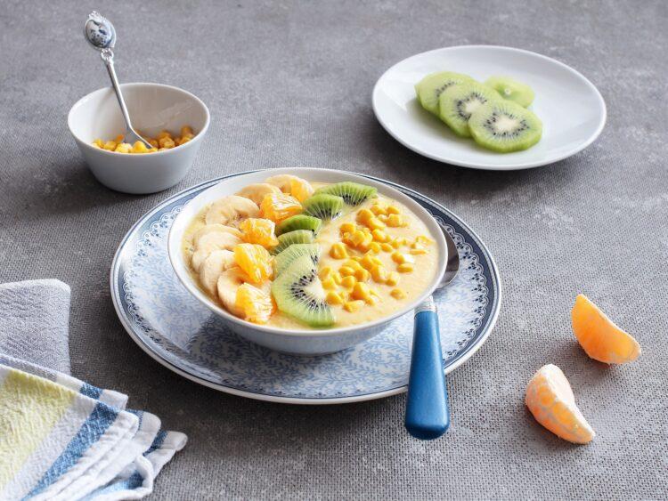 Kukurydziany smoothie bowl - Krok 4