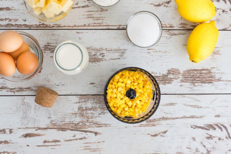 Ciasto kukurydziane z kremem cytrynowym - Krok 1
