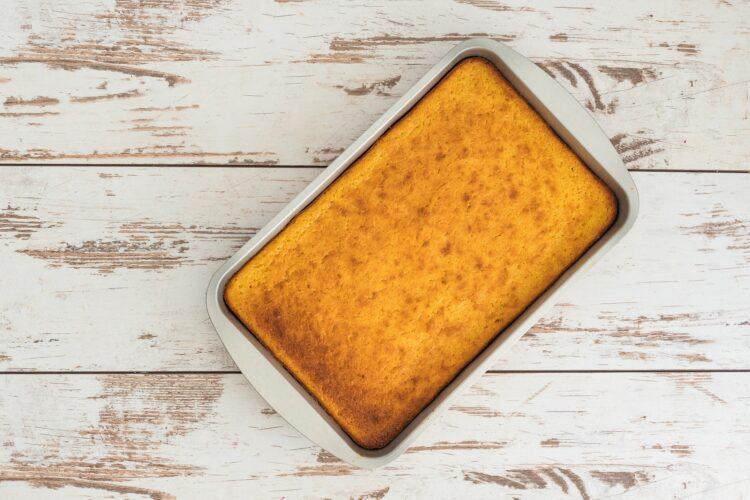 Ciasto kukurydziane z kremem cytrynowym - Krok 3