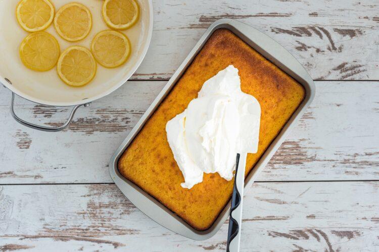 Ciasto kukurydziane z kremem cytrynowym - Krok 5