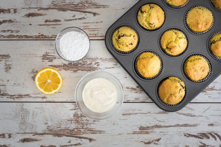 Muffinki groszkowe z czekoladą - Krok 5