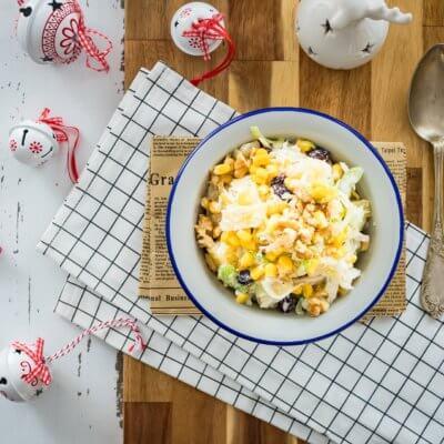 Sałatka z selera z kukurydzą i ananasem