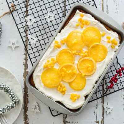 Ciasto kukurydziane z kremem cytrynowym