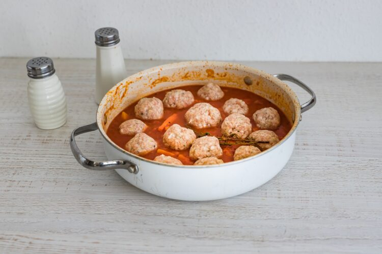 Pulpety w sosie pomidorowym z dynią - Krok 5