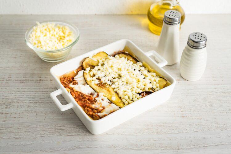 Lasagne z mięsem mielonym, bakłażanem i soczewicą - Krok 5
