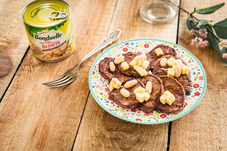 Kakaowe placuszki bananowe z fasoli