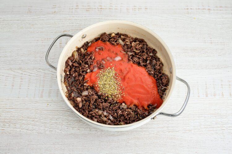 Zapiekanka bolońska z bakłażanem i makaronem z soczewicy i marchewki - SkładnikiZapiekanka bolońska z bakłażanem i makaronem z soczewicy i marchewki - Krok 3