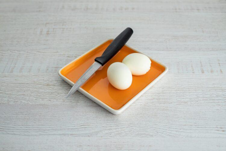 Sałatka nicejska z makaronem z groszku i cukinii - Krok 4