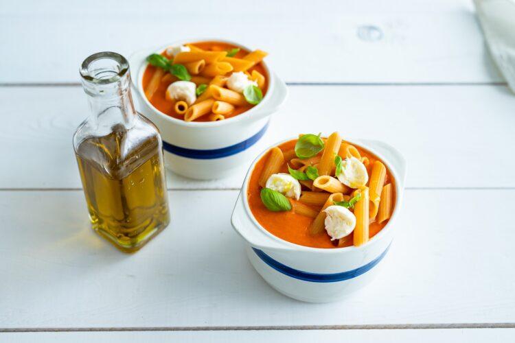 Krem z pomidorów z makaronem z soczewicy i marchewki - Krok 5
