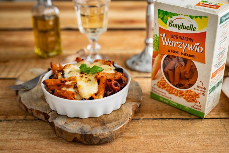Zapiekanka bolońska z bakłażanem i makaronem z soczewicy i marchewki - SkładnikiZapiekanka bolońska z bakłażanem i makaronem z soczewicy i marchewki