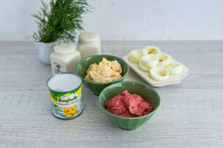 Kolorowe faszerowane jajka - Krok 4