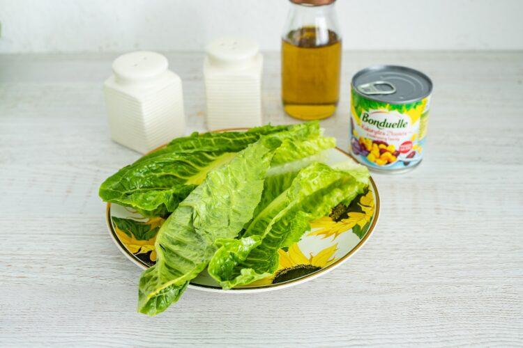 Szaszłyki z kurczaka z sałatką z kukurydzy i fasoli - Krok 3