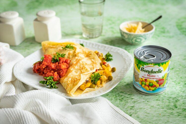 Naleśniki z kurczakiem po meksykańsku