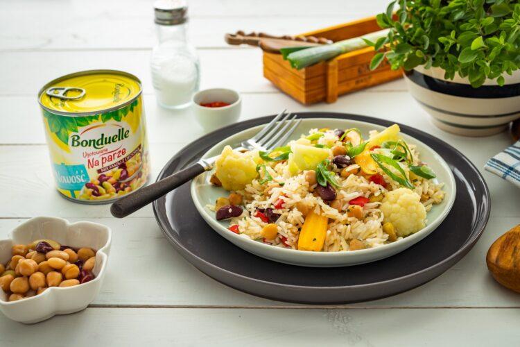 Szybki ryż z warzywami