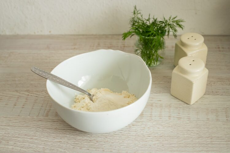 Pikantne placuszki z serka wiejskiego z kukurydzÄ… - Krok 1