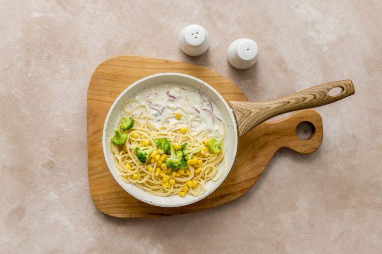 Spaghetti cztery sery z brokułem - Krok 4