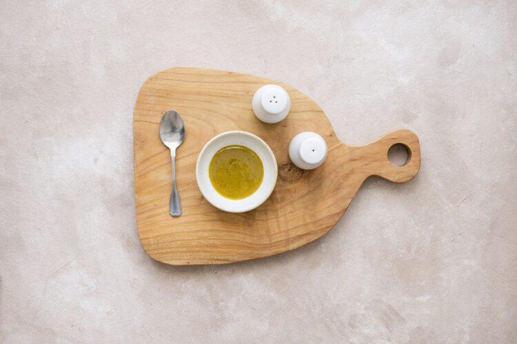 Sałatka z kaszy bulgur z pieczoną dynią, fetą i pistacjami - Krok 4