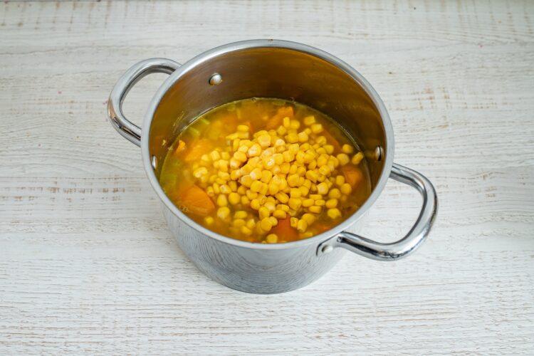 Krem z dyni i kukurydzy z serem pleÅ›niowym - Krok 4