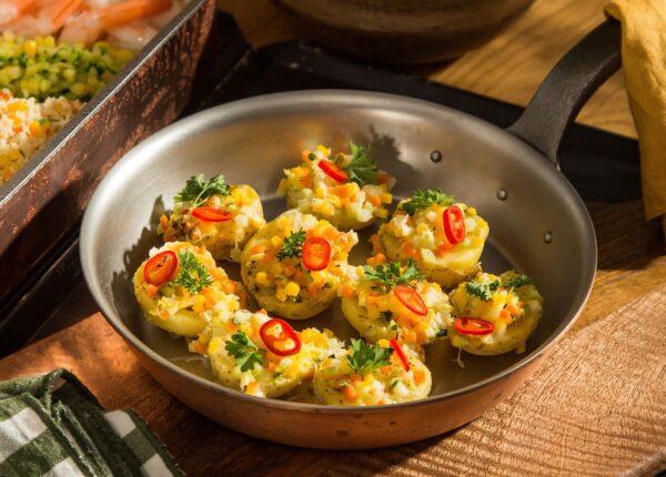 Ziemniaki nadziewane warzywami