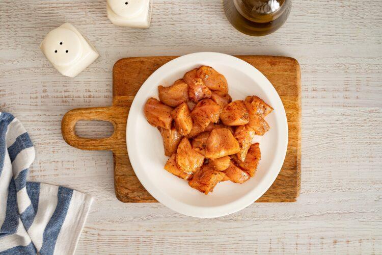 Kasza smażona z kurczakiem i warzywami oraz mozzarellą - Krok 1