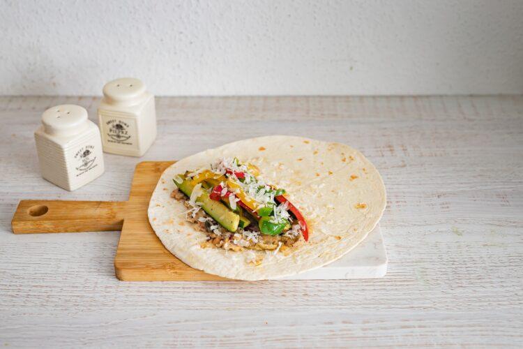 Śródziemnomorskie tortille z warzywami - Krok 5