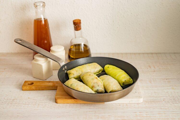 Wegańskie gołąbki z soczewicą, ryżem i grzybami - Krok 5