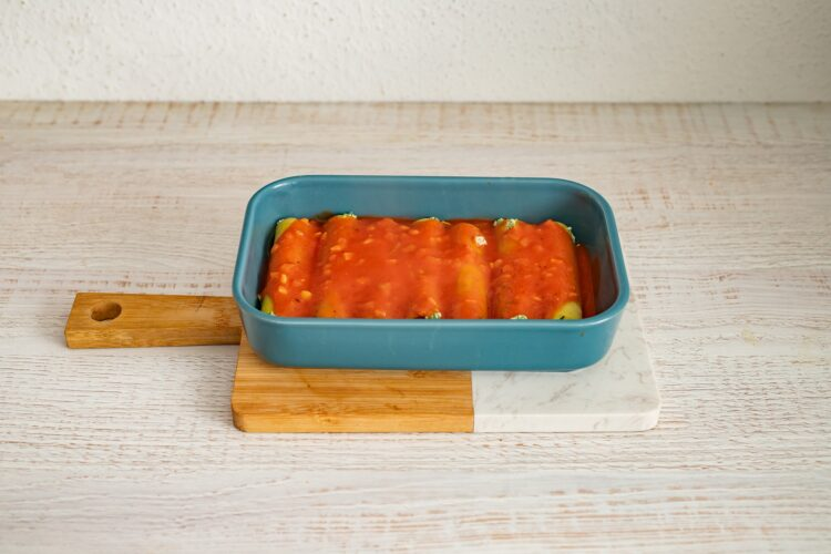 Cannelloni ze szpinakiem i serem - Krok 5