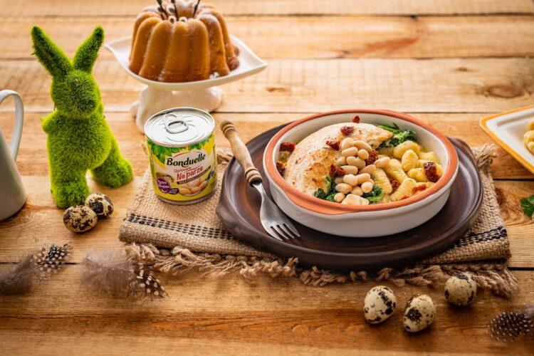 Kurczak po toskańsku z gnocchi z fasoli