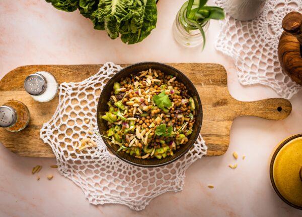 Marokańska sałatka z soczewicy