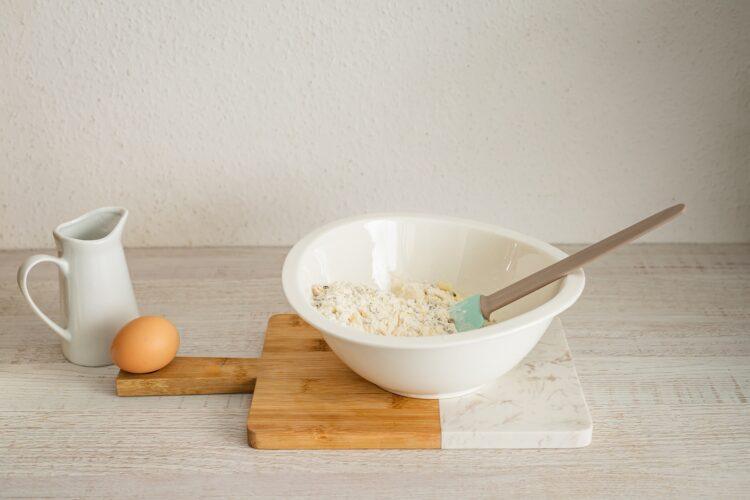 Minimuffinki serowe z kaszÄ… z borowikami - Krok 1