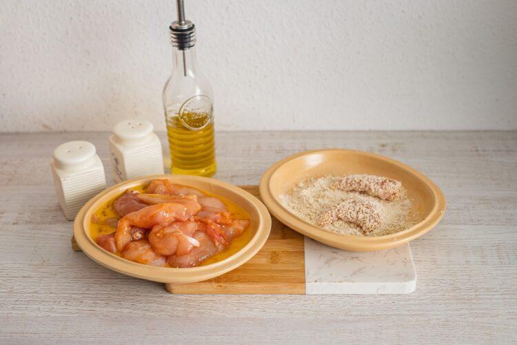 Sezamowe nuggetsy z kurczaka z kaszÄ… z soczewicÄ… - Krok 3