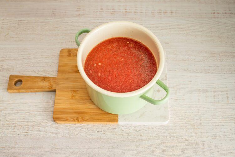 Klasyczna zupa pomidorowa z pulpecikami z soczewicy i kaszy - Krok 3