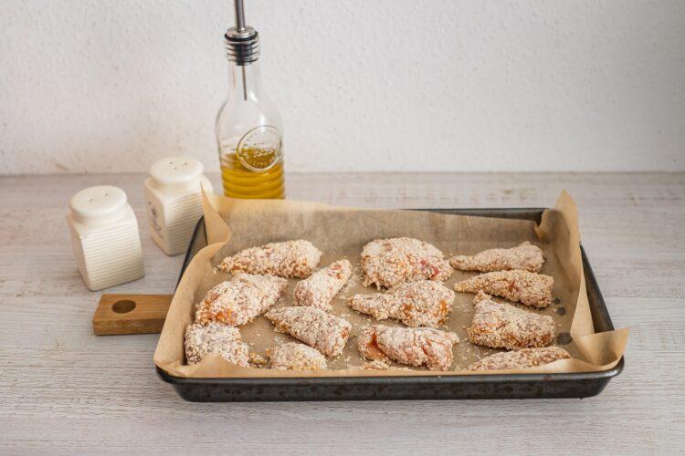 Sezamowe nuggetsy z kurczaka z kaszÄ… z soczewicÄ… - Krok 4