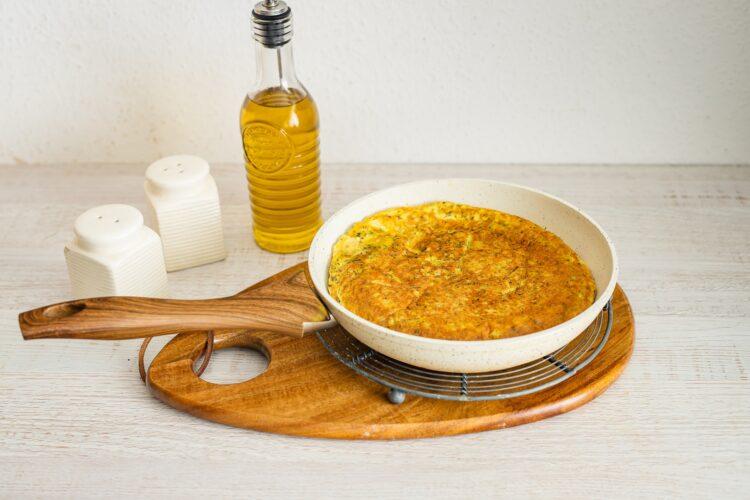 Tortilla hiszpańska z kaszą z cukinią - Krok 4