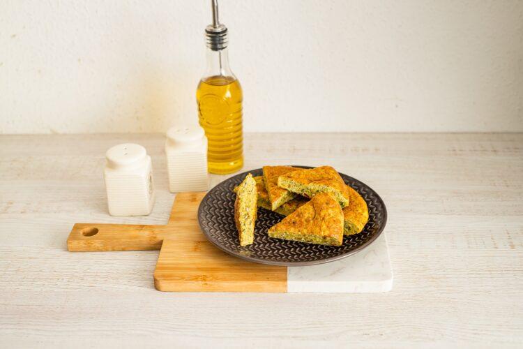 Tortilla hiszpańska z kaszą z cukinią - Krok 5