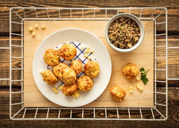 Minimuffinki serowe z kaszÄ… z borowikami