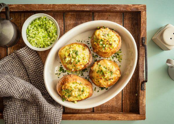 Ziemniaki faszerowane brokułami i gorgonzolą